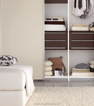 Bedroom wardrobe designs with lightweight sliding door fitted