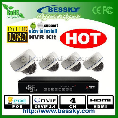HD 2MP CCTV IP system , 4CH indoor IP camera kit , 360 free driver webcam laptop ( Bessky factory )