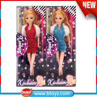 New Design Blonde Hair 12 Inch Pretty Big Eyes Girl Doll