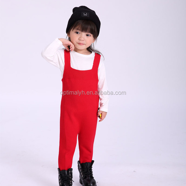 Wholesale Kids clothes Sweater Bodysuits Newborn red sweater juompsuit with strap
