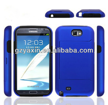 For Samsung note 2 n7100 hard plastic phone case,for galaxy note2 mobile back cover case;plastic hybird skin