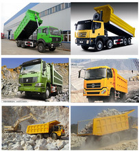 Famous Sinotruck/Shacman/Dongfeng/JAC/Northbenz/Foton brand New Dumper Truck 20-100 tons HYVA Tipper system truck