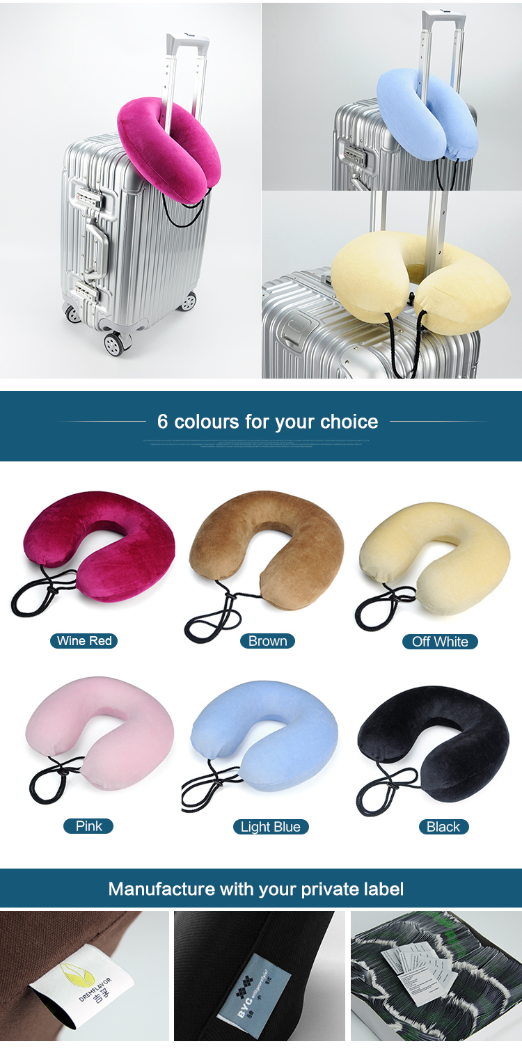 Wholesale Super Soft Neck Support Travel Pillow With Your Brand Logo