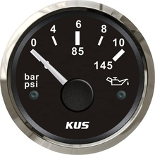 High Quality KUS 52mm Car Boat Truck Oil Pressure Gauge <strong>Meter</strong> 0-10Bar 0-145Psi