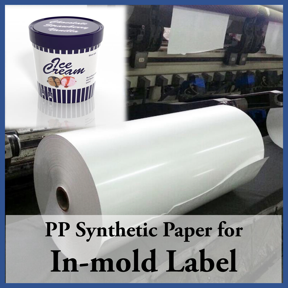 Opaque white bopp films for injection in mold label printing