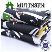 Mulinsen Textile High Quality Seaside Printed Woven Stretch Cotton Twill Fabric