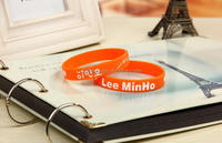 Promotional gifts two colors rubber silicon bracelet / custom silicon wrist band / silicon wristband