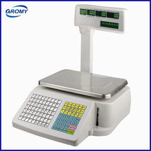 Electronic Weighing Scale Label Printing Barcode Printing Scale with Pole Display