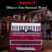 High Grade Professional Bass Keyboard 41 Keys 120 Bass Parrot Piano Accordion For sale