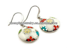 factory price Jewelry 2013 new Fashion Earring fashion drum drop enamel earring