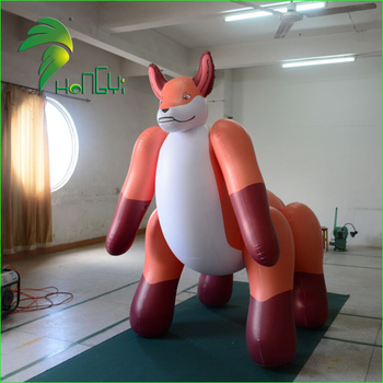 Popular Giant Lovely Inflatable Animal Fox / Newest Customized Design Inflatable Cartoon Fox Model
