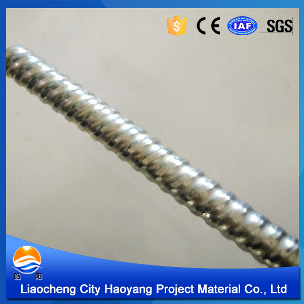 Zinc-plated hollow split set rock bolts for reinforce construction