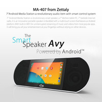 Hot Sale Zettaly 7 inch Touch Screen Smart Sound Box Android 4.4 audio and video system built with wifi Bluetooth 4.0 Speaker