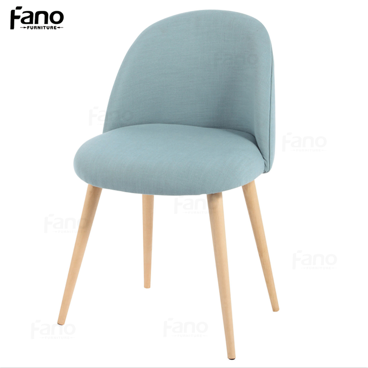 2016 new coming beauty round back fabric wooden relax chair