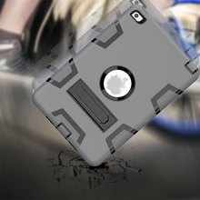 New Arrival 3 in 1 Collision color robot Anti-drop tablet armor case cover for ipad 2/3/4/mini 4