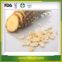 100% Natural freeze dried fruit pineapples slice