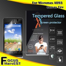 0.33mm 2.5D 9H hardness 2016 Hot New products custom cut tempered glass screen protectors for Micromax A093