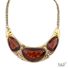 aries wholesale 105462 new arrival 18k gold plated jewelry set statement necklace in china