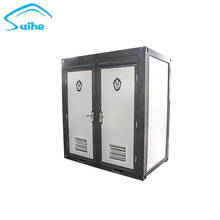 China double seat mobile toilet cabin for sale in India