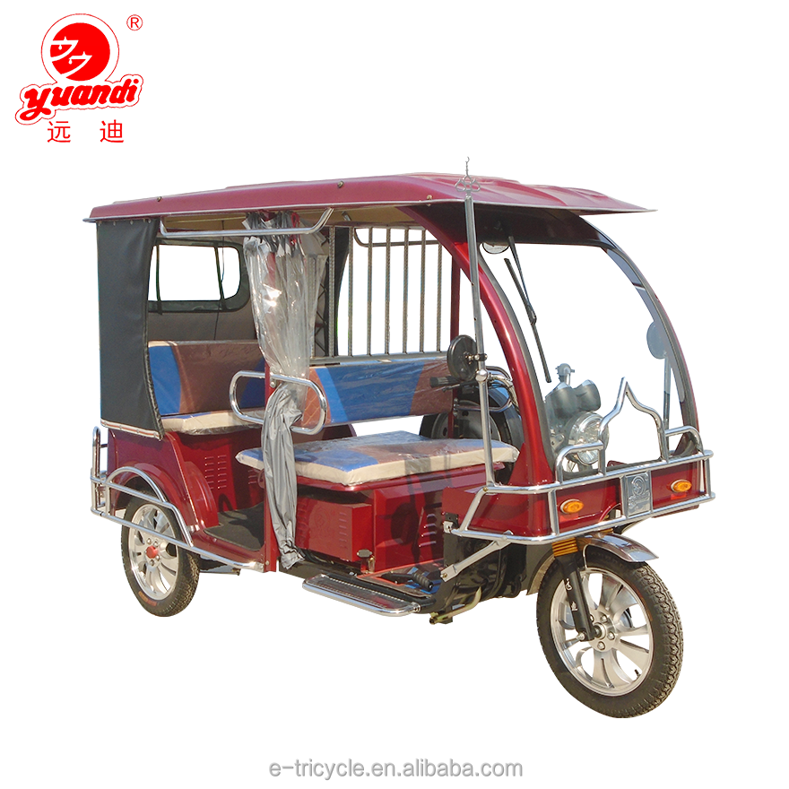 60V 1000W High Power Electric Passenger Auto Rickshaw for New Delhi
