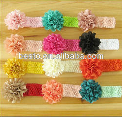 Wide elastic hairbands girl&ladies big flower elastic hairband