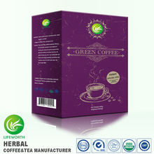 Lifeworth rich taste herbal green cappuccino instant herbal slim fast coffee powder with samples free by 3 days delivery