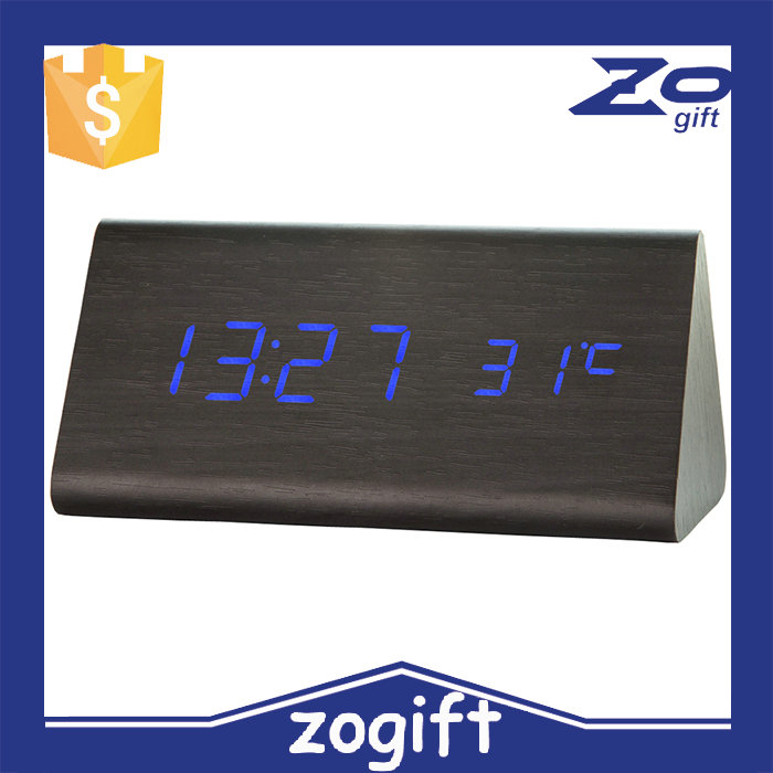 ZOGIFT Mini Digital LED Wooden Alarm Clock