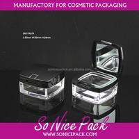 loose powder Cosmetic box with sifter elegance empty face powder case