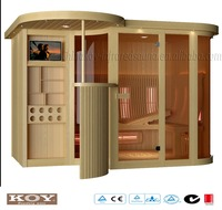 Deluxe 5 star hotel Infrared Sauna room with lounge bar 06-K8