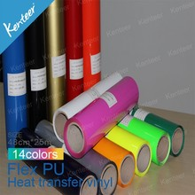 Kenteer High Quality Pu sticky Material And Heat Transfer Type Heat Transfer T-shirt Vinyl