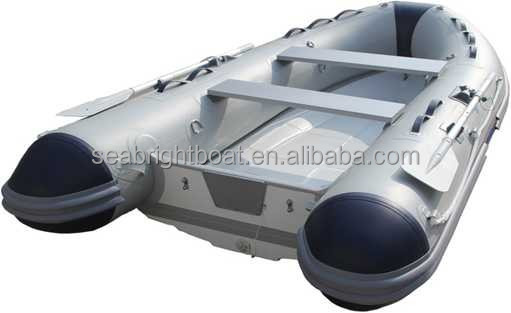 2015 new design fiberglass rowing boat with foldable transom boat for sale
