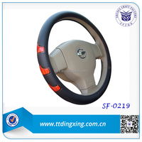 2014 14 inch custom Blue car steering wheel cover for VW auto accessories