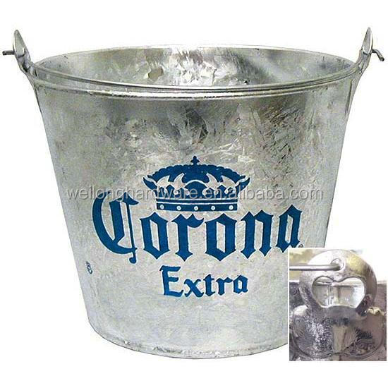 5L Personalized Corona Metal Ice Bucket With Bottle Opener for Beer