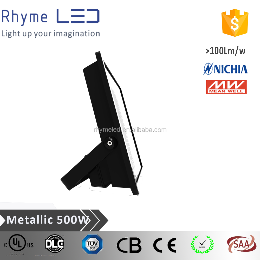 CE RoHS approved ip66 500w high lumen outdoor led flood light