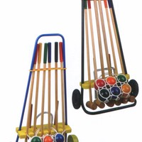 Lawn Game Wooden Croquet Set For