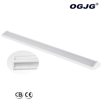Airport Freight office left and right Emitting Pendant Lamp Black/White/silver anti-glare linkable led batten Light