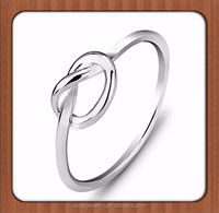 Wholesale Thin Womens engagment ring ebay 925 Sterling Silver Love Knot Ring