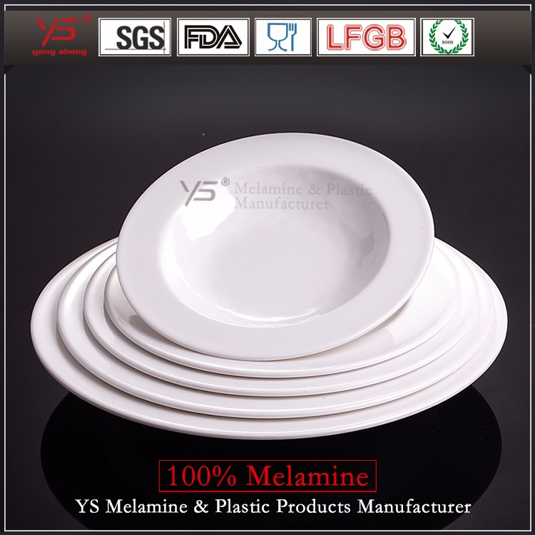 New arrival hot weight melamine plate,melamine plates round 25 cm,melamine portion plate for diet