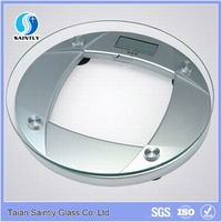 tempered round glass for body scale