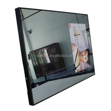 32inch led magic mirror advertising display , hotel bathroom led magic mirror advertising