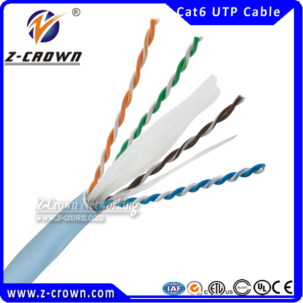 High Speed Data Transmission UTP Category 6 Communication Cable