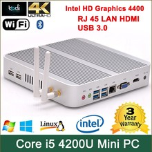 computador de bordo de carro Core i5 4200U processor intel HD 4400 Graphics HDMI+VGA Win 7 mini pc hdmi 1080p rj45