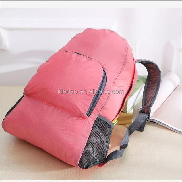 Light weight hiking outdoor camping nylon travel school foldable backpack bag