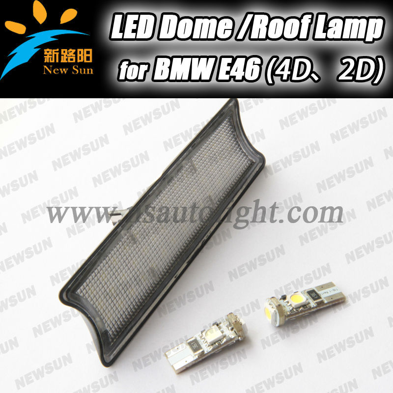 Factory direct sale car interior reading lights map light no error led dome roof lamps only for BMW E46 4D 2D