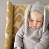 Baby Hoodies Cute Rabbit Ears Toddler Knitting Sweater