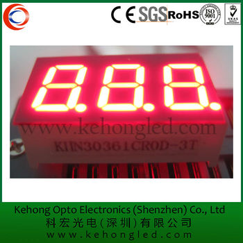0.39'' 7 segment 3 digit dust pressure gauge led display good quality hot sale product