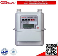 IC card prepaid diaphragm smart gas meter G1.6