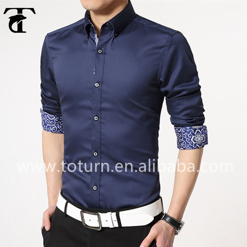 High end quality non iron non wrinkle double color men for High end men s shirts