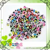 beautiful and decorative 8mm round multi color resin evil eye beads