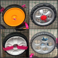 good quality solid air pneumatic rubber wheel 12 inch